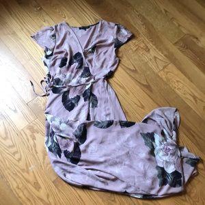 Dynamite wrap maxi dress